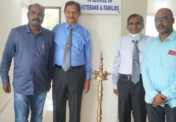 Chief Guest with President and Staff of TSEWA conveying best wishes